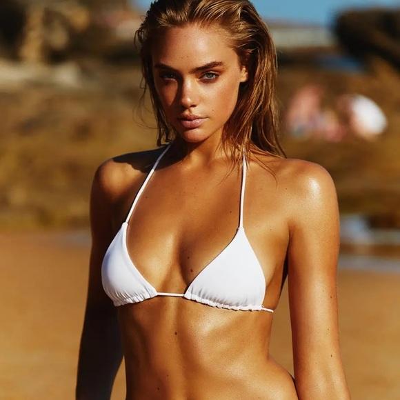 Ark Swimwear White Triangle Bikini